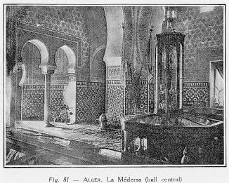 FIG. 81. - Alger: La Médersa, hall central
